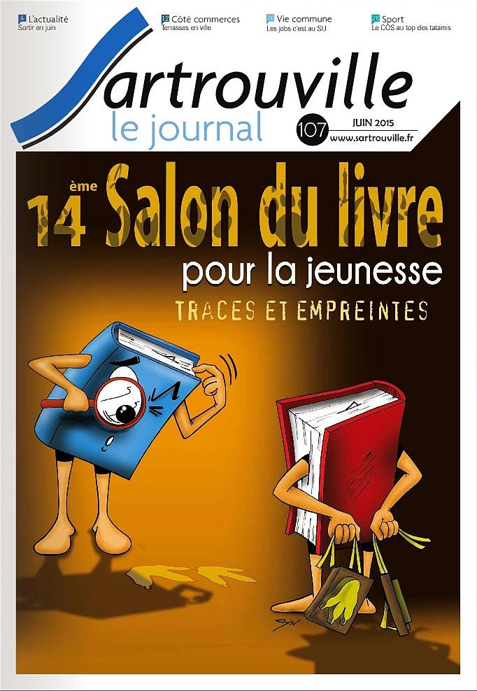 L'entête du Journal de Sartrouville annonçant le salon du livre 2015