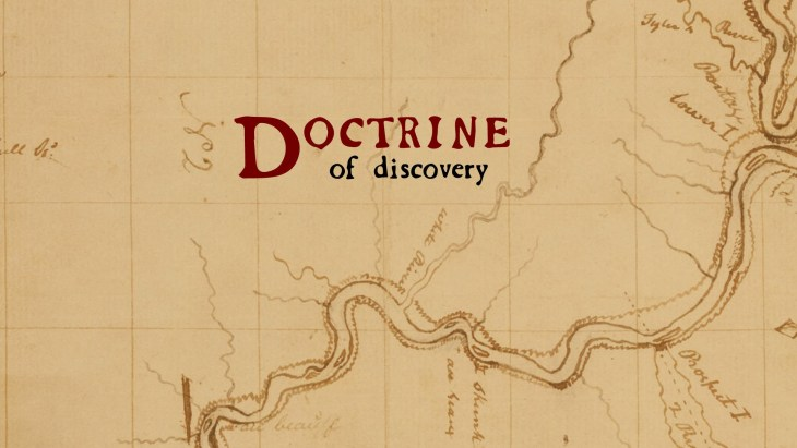 a map depicting The Doctrine of Discovery