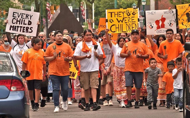 They Were Children march in Onondaga Nation. Photo by Mike Greenlar.