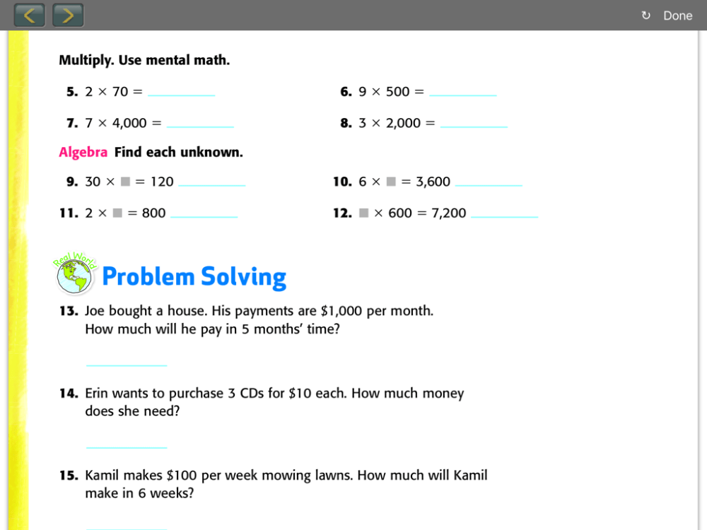 medium resolution of Everyday Math 4th Grade Worksheets everyday math unit review mrs warner s 4th  grade - Easy Math