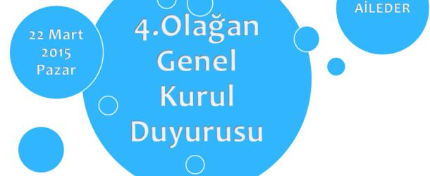 4.Olağan Genel Kurul Duyurusu