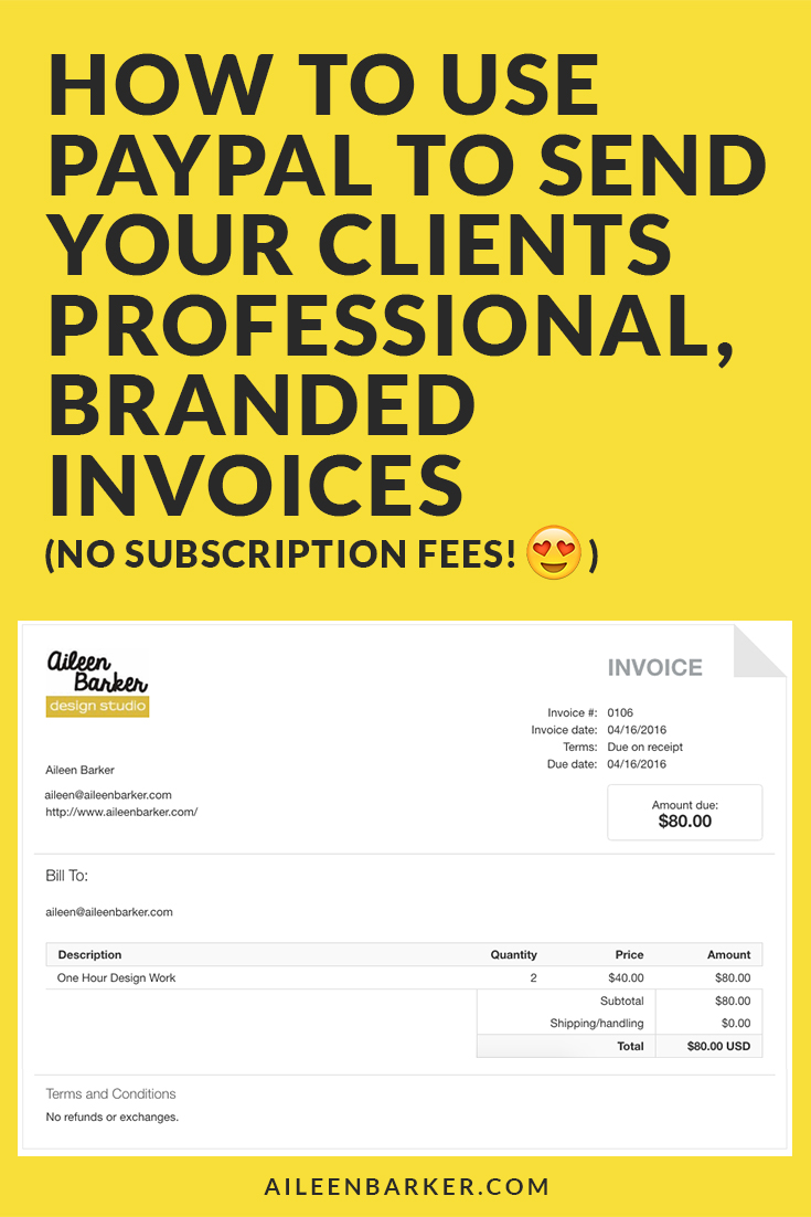 Paypal Shipping Without Invoice : paypal, shipping, without, invoice, Paypal, Clients, Professional, Invoices, Aileen, Barker