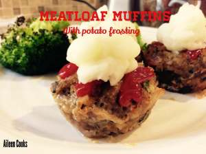 Meatloaf Muffins with Potato Frosting Recipe