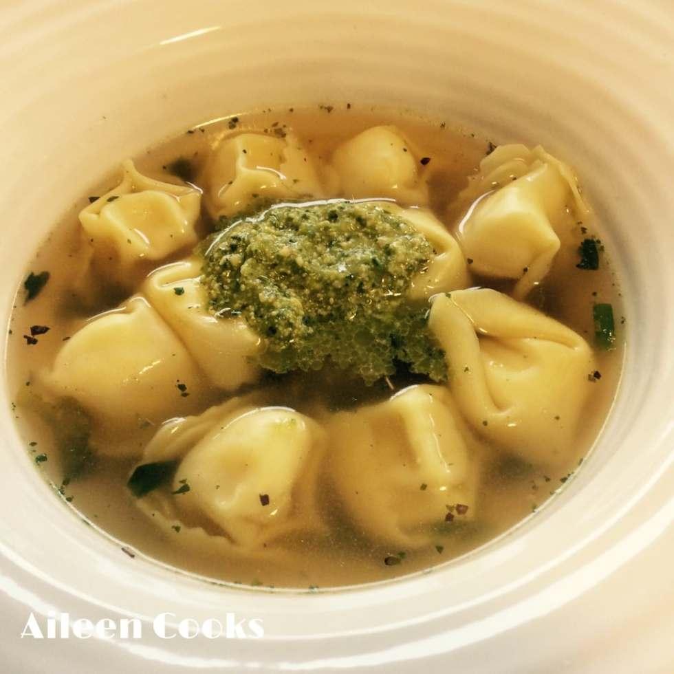 Pesto Tortellini Soup | Aileen Cooks