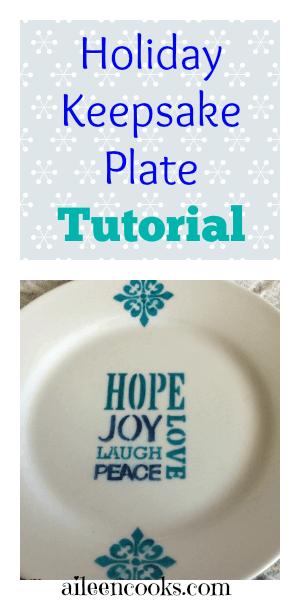 Holiday Keepsake Plate DIY Craft