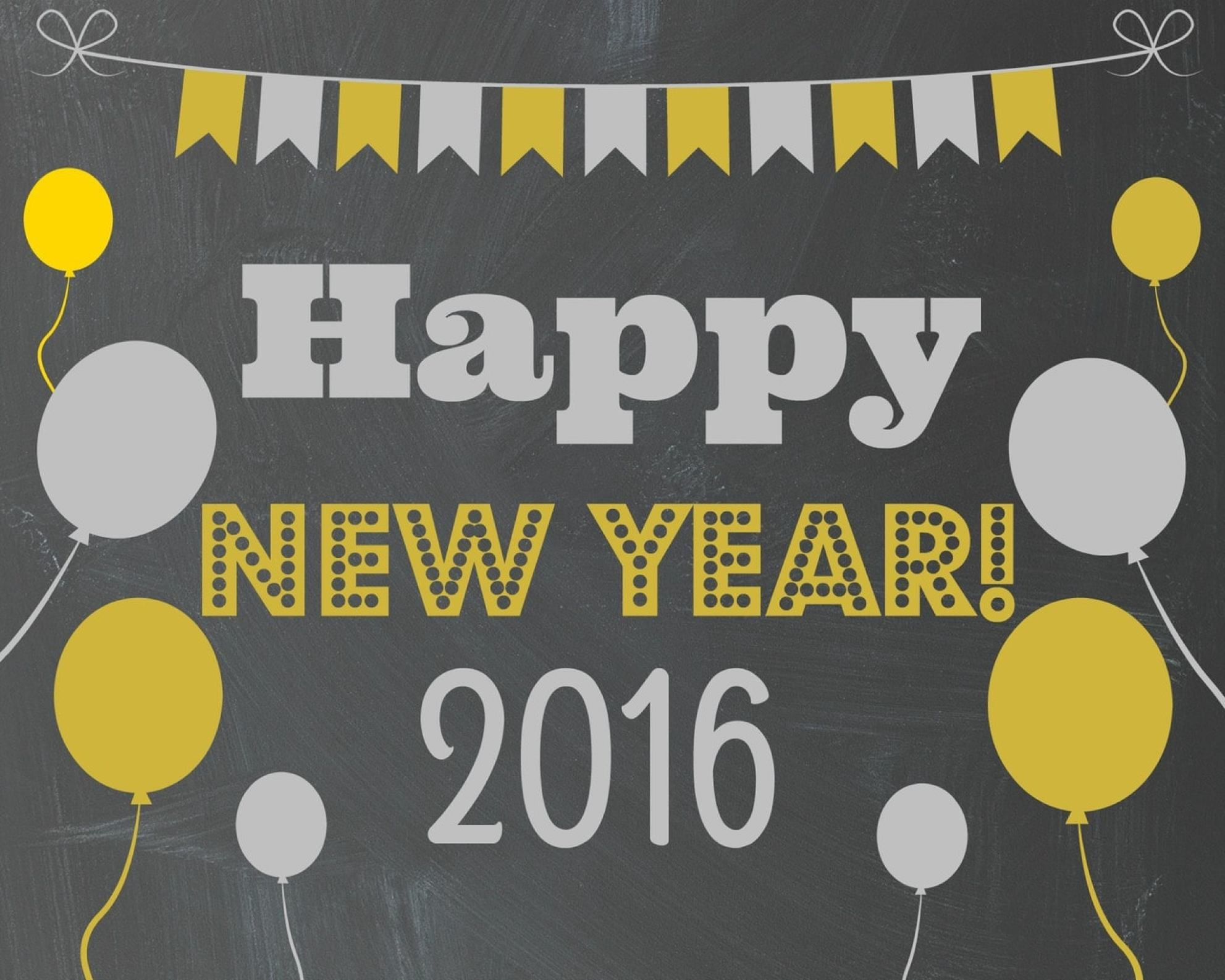 Happy New Year FREE Printable Gold