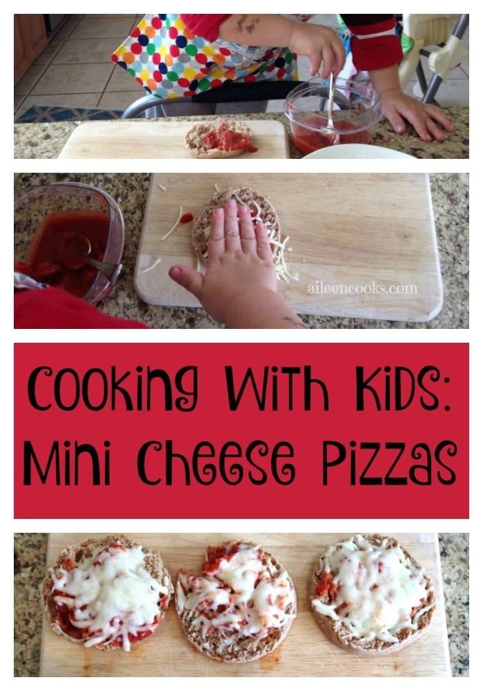 Cooking with Kids: Mini Cheese Pizas