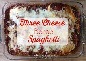 Three Cheese Baked Spaghetti 5