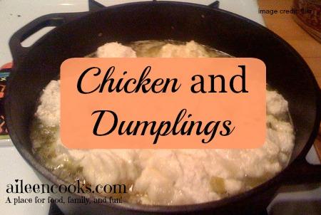 Chicken on Dumplings on Soup Week from https://aileencooks.com