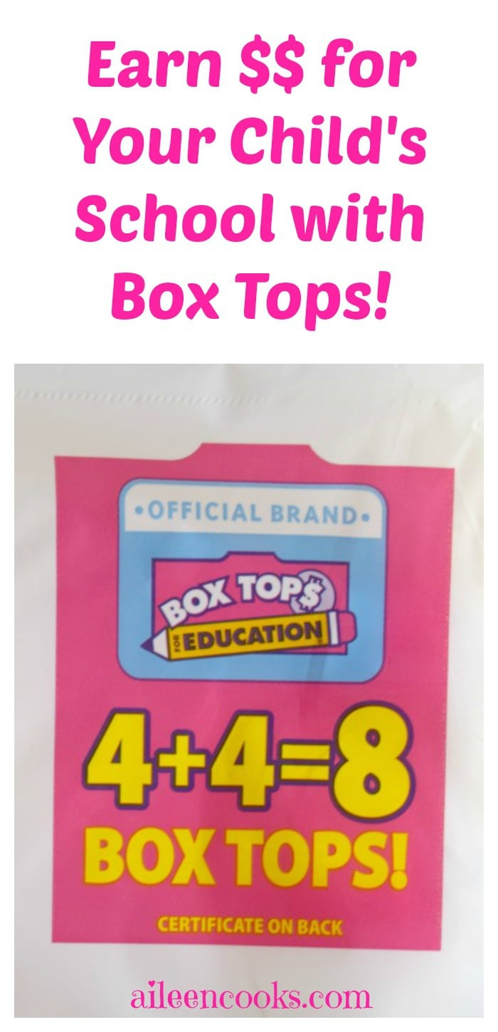 Earn money for your child's school with box tops for education. A great fundraiser and easy way to support your school with products you already purchase. #ad