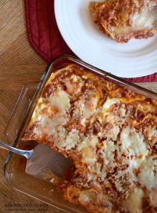 Roasted Garlic Three Cheese Lasagna