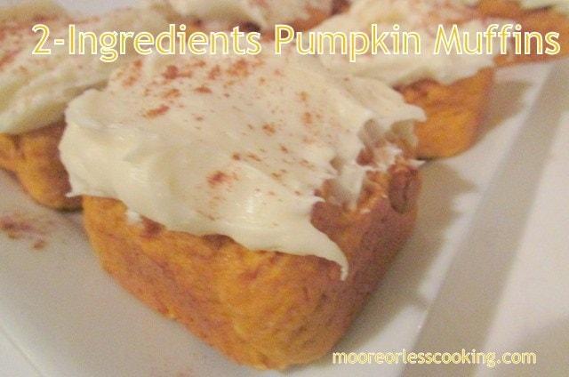 2-ingredient-pumpkin-muffins
