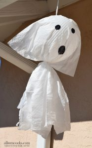 Not So Scary Garbage Bag Ghosts