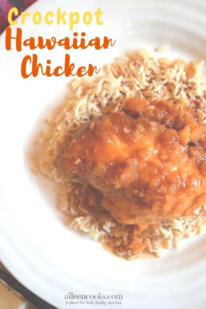 This crockpot Hawaiian chicken is packed with Hawaiian flavors of pineapple and sweet barbecue sauce. We love that this is a dump and go easy crockpot chicken recipe!