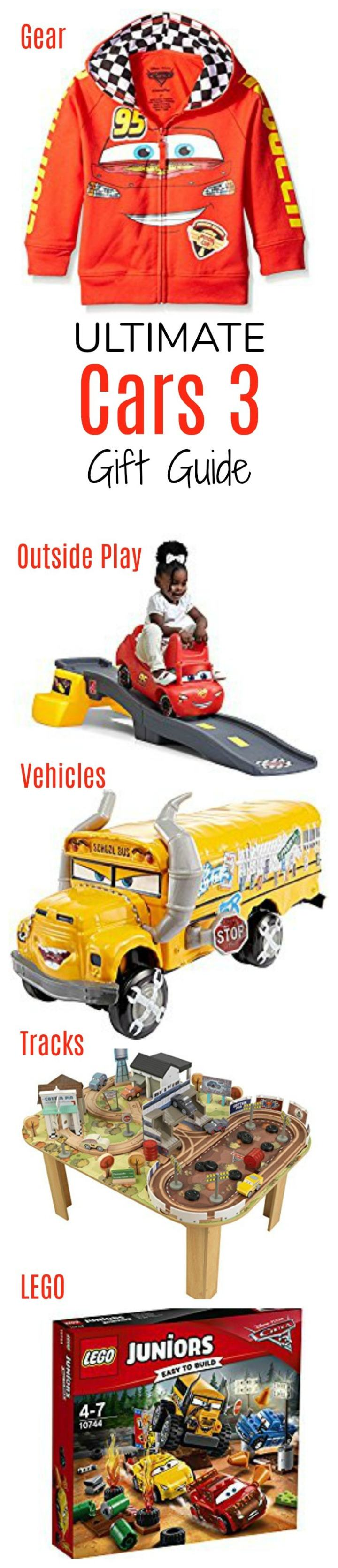 The ultimate Cars 3 gift guide for your little Cars 3 fan! Features building toys, lego sets, vehicles, bedroom gear, outdoor toys and more!