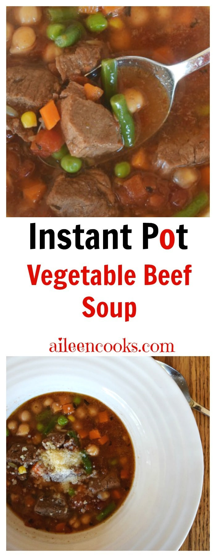 Pressure Cooker Vegetable Beef Stew is a healthy instant pot recipe made with tender beef and vegetables. Recipe from aileencooks.com. Pressure Cooker recipes. Instant Pot Vegetable Beef Soup. Instant Pot Recipes.