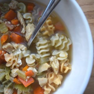 Colorful Chicken Noodle Soup is the perfect healthy soup recipes to cook with your kids. Recipe from aileencooks.com. kids in the kitchen. cooking with kids. Recipes to make with kids.