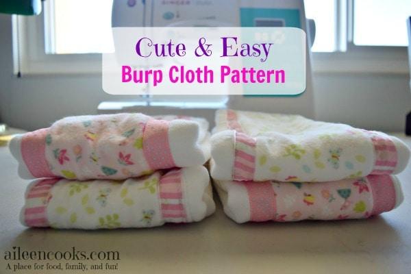 Cute Easy Burp Cloth Pattern Aileen Cooks
