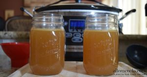 Overnight Crockpot Chicken Stock
