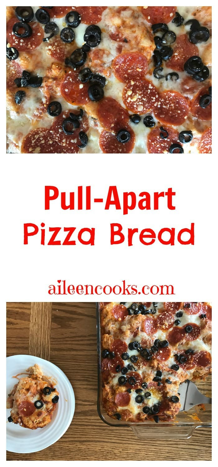 Pull Apart Pepperoni Pizza Bread with homemade biscuit dough. Make this fun and kid-friendly recipe tonight! Recipe from aileencooks.com. Pizza Recipes. Real Food Recipes.