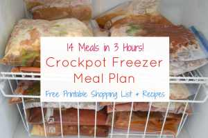 Crockpot Freezer Meal Plan