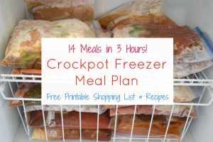 Crockpot Freezer Meal Plan