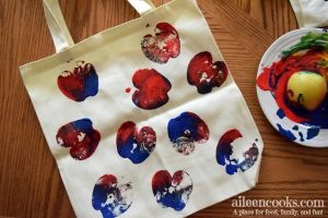 Apple Printed Canvas Bags
