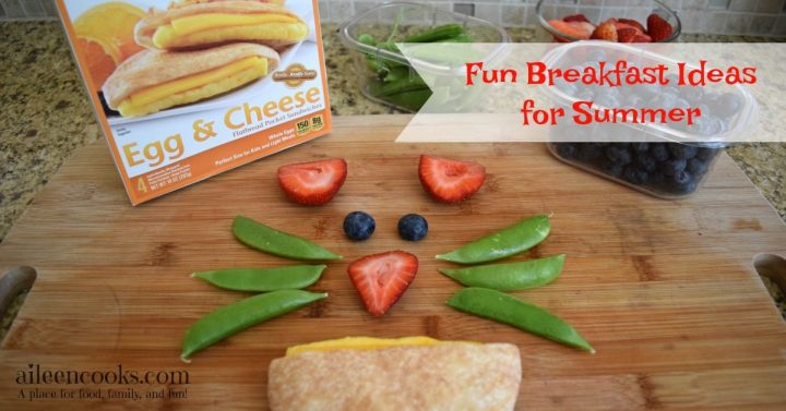 Fun Breakfast Ideas for Summer. Make these easy and delicious breakfast for kids using whatever fruit and vegetables you have on hand and Sandwich Bros. Egg and Cheese Sandwiches!