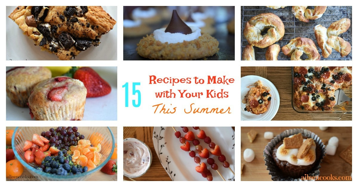 15 Recipes to get Kids Cooking this Summer. Get your kids in the kitchen with these 15 fun cooking with kids recipes!