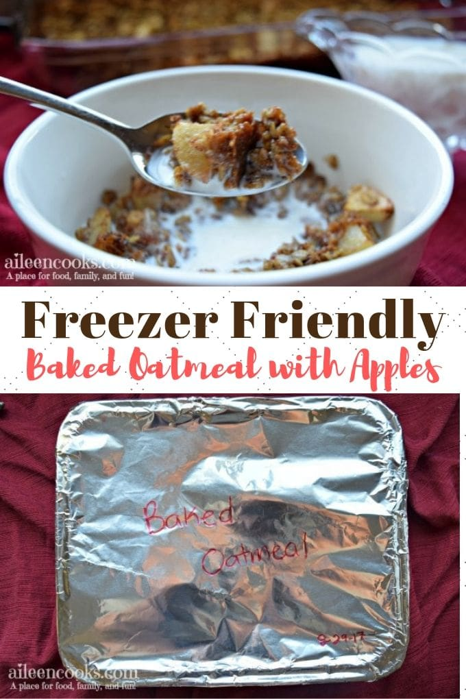 Make ahead baked oatmeal with apples is sweet, filling, and taste delicious served with warm milk. Baked oatmeal is my favorite way to eat oatmeal. It makes it feel extra fancy more like a full meal.