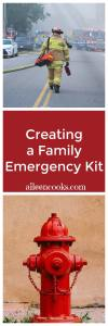 Learn how to create a 72 hour family emergency kit and be prepared for natural disasters