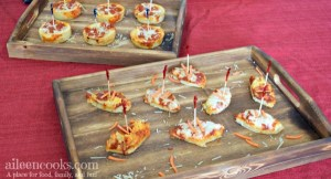 Gameday Pizza Bites - Fun football shaped appetizers for the big game!