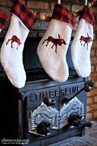 Buffalo Plaid Christmas Mantel