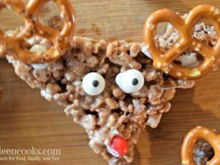Rice Krispie Treat Reindeer