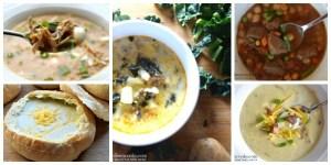 5 bowls of soup