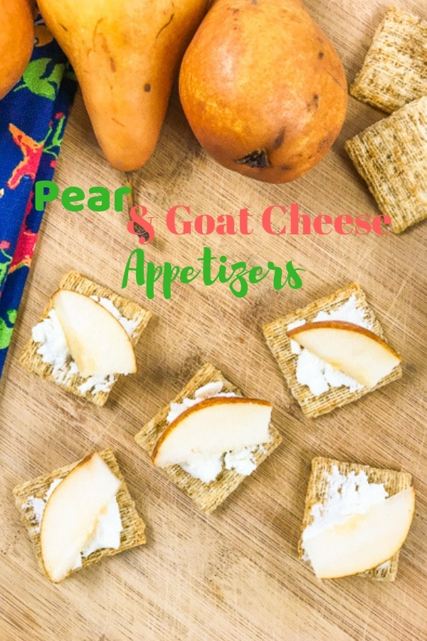 Make these simple and elegant pear and goat cheese appetizers. They are ready in minutes and use just three simple yet delicious ingredients.