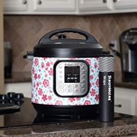SteamMates Wraps Compatible with Instant Pot Accessories 6 qt | Customize Your Instant Pot with Different Designs | Fits InstaPot Duo 6 qt ONLY | Spring Floral Red Duo 6 Qt