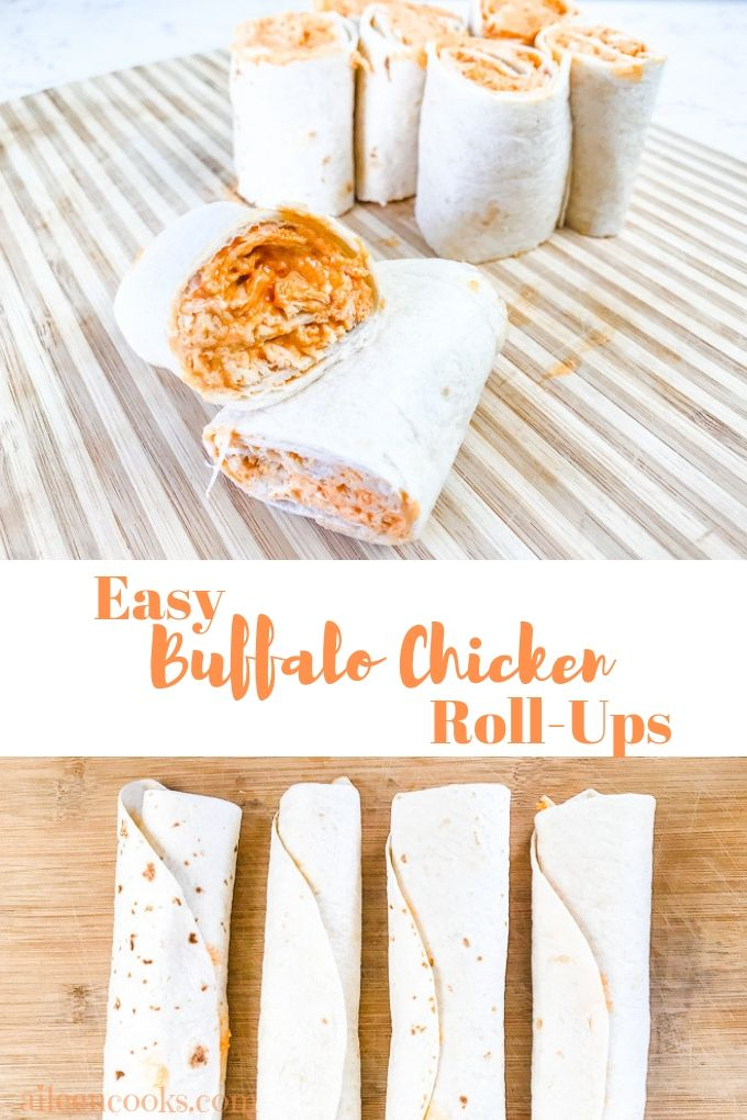 I love a good roll-up. They're easy, tasty, and crowd pleasing! This recipe for Buffalo Chicken Roll-Ups does all of these things with just 4 simple ingredients.