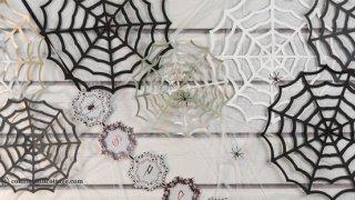 Paper Spider Web | DIY Halloween Decor