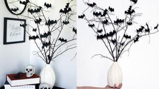 Easy Bat Bouquet Halloween DIY Decor