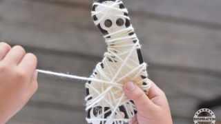 Halloween Art Projects Mummy String Art