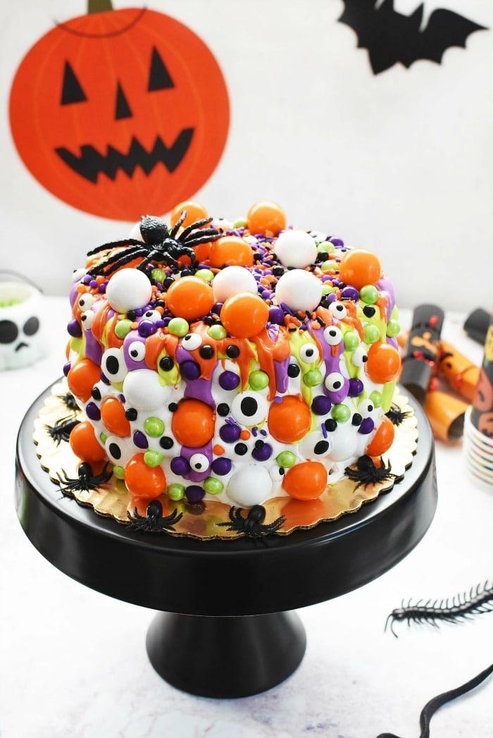 Semi Homemade Halloween Cake & Cupcakes Ideas