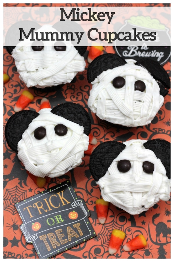 Mickey Mummy Cupcakes Recipe - Perfect For Halloween Parties And Gatherings!