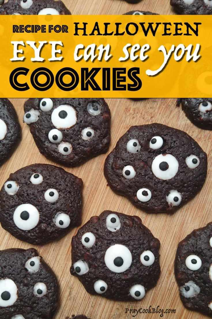 EYE Can See You Cookies for Halloween!