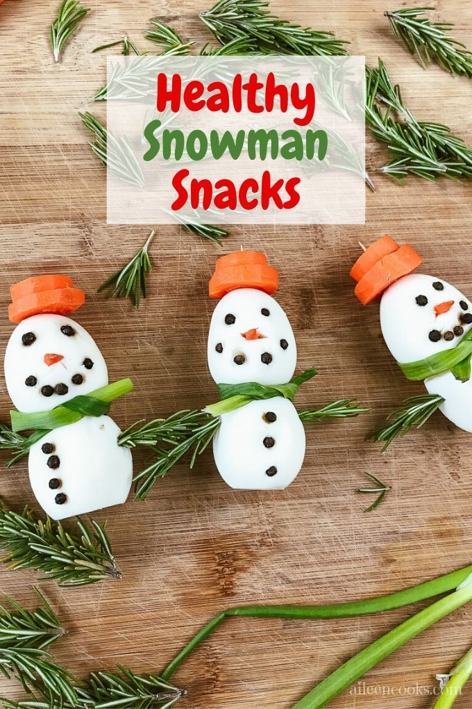 Learn how to make these adorable snowman snacks made out of hard boiled eggs! You are not going to believe just how easy it is to decorate your own healthy snowman eggs!