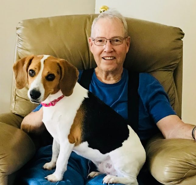 granddaddy and beagle
