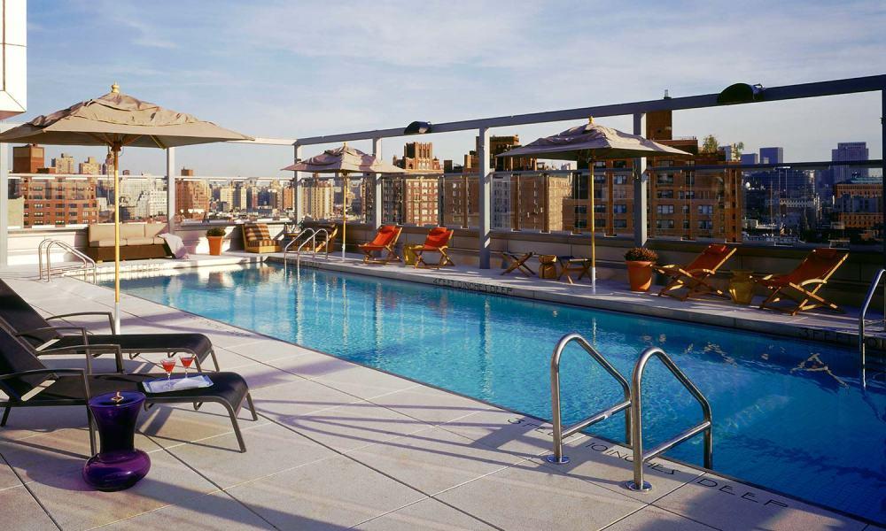 Hotel Gansevoort's rooftop pool