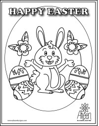 Happy Easter Coloring Pages Online. Happy. Best Free ...
