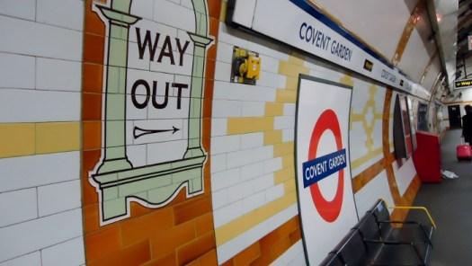 Covent Garden tube station, London. Ailish Sinclair | Author