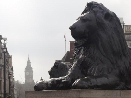Trafalgar Square, Big Ben, Lion, London